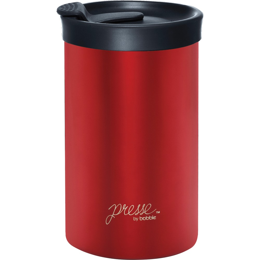 Image of Bobble Presse Stainless Steel Travel Mug 13oz - Red