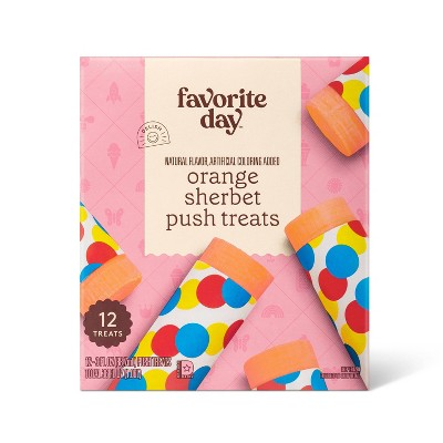 Orange Sherbet Frozen Push Pop - 36ct/12ct - Favorite Day™