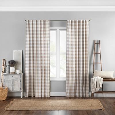Farmhouse Living Buffalo Check Window Curtain Panel - Elrene Home Fashions