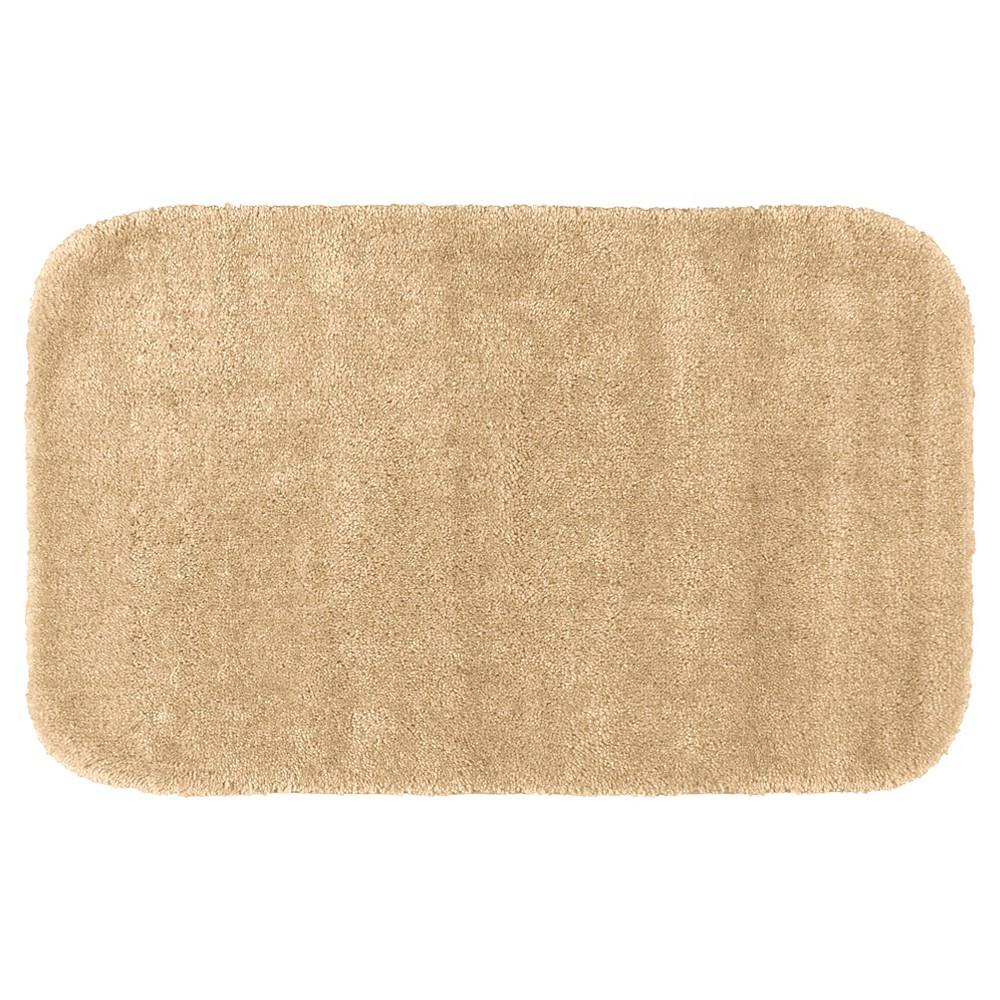 Garland Traditional Plush Washable Nylon Bath Rug - Linen (24