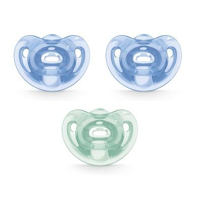 NUK 3pk Comfy Orthodontic Pacifier 0-6 Months - Blue