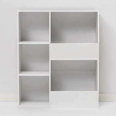 Cube Bookshelf with Potato Bins White - Room Essentials™