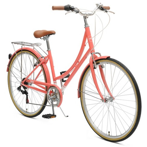 """Critical Cycles Ladies Beaumont 7-speed City 17"""" Hybrid Bike - Coral - image 1 of 2"""