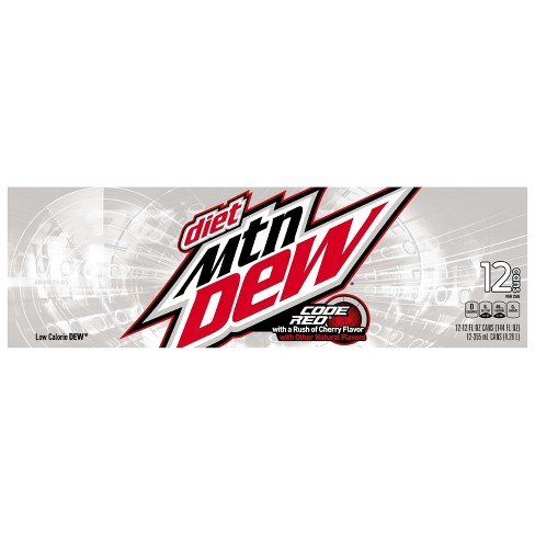 Diet Mountain Dew Code Red Soda - 12pk/12 fl oz Cans - image 1 of 3