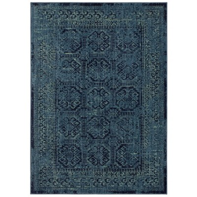 7'X10' Overdyed Area Rug Turquoise - Threshold™