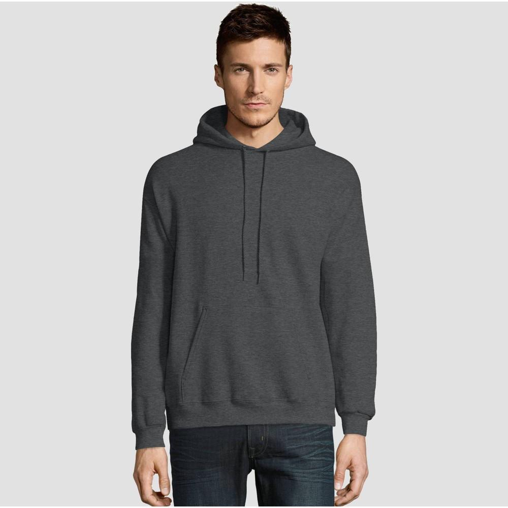 Hanes Men 39 S Ecosmart Fleece Pullover Hooded Sweatshirt Dark Gray Xl