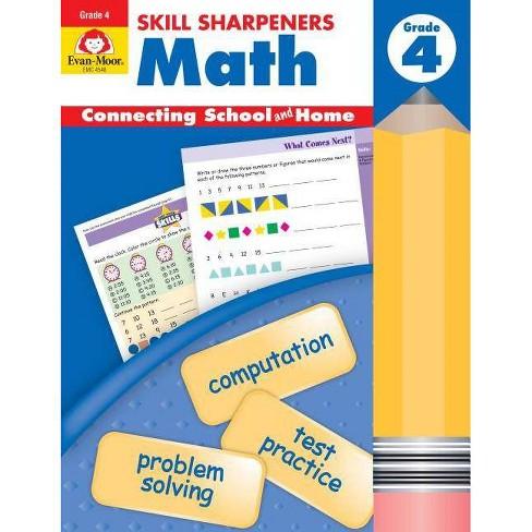 Skill Sharpeners Math Grade 4 - (Skill Sharpeners: Math) by  Evan-Moor Educational Publishers - image 1 of 1