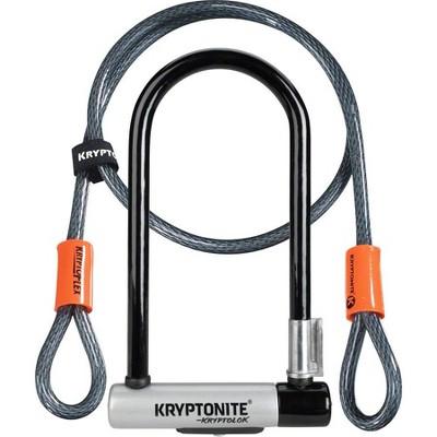 """Kryptonite KryptoLok U-Lock 4 x 9"""" Black with Cable"""