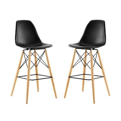 Pyramid Dining Side Bar Stool Set of 2 - Modway - image 1 of 4