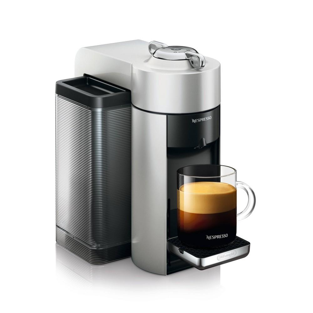 Nespresso Vertuo Coffee and Espresso Machine Silver by De'Longhi