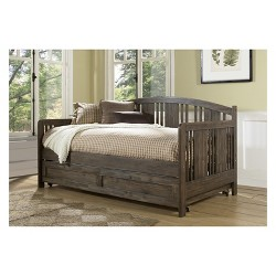 Dana Wood Daybed With Trundle Unit Twin Brushed Acacia - Hillsdale Furniture