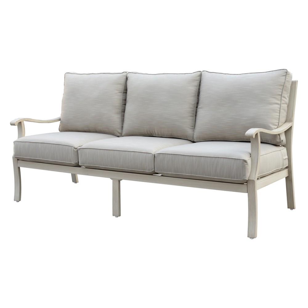 Torino Aluminum Outdoor Sofa - Camel - Courtyard Casual