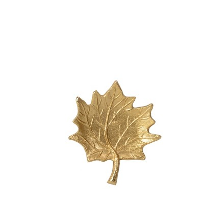 Gold Maple Leaf Decorative Wall Sculpture Light Gold - Threshold™