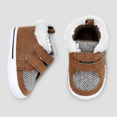 Baby Boys' High Top Hiker Crib Shoes - Cat & Jack™ Brown 3-6 M