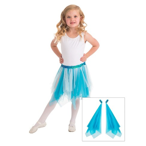 Little Adventures Fairy Tutu and Wrist Scarves Teal - image 1 of 1
