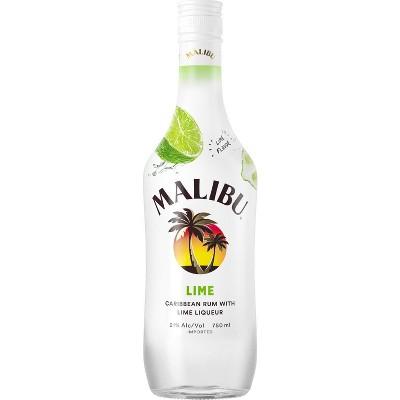 Malibu Lime Rum - 750ml Bottle