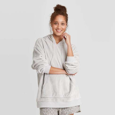Women's Faux Fur Lounge Tunic Sweatshirt - Colsie™ - image 1 of 3