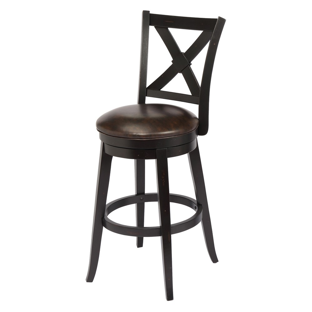 24 Bailey Bar Height Swivel Stool Black - Foremost