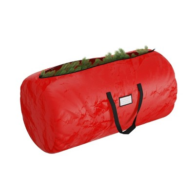Elf Stor 9' Deluxe Holiday Christmas Tree Storage Bag Red