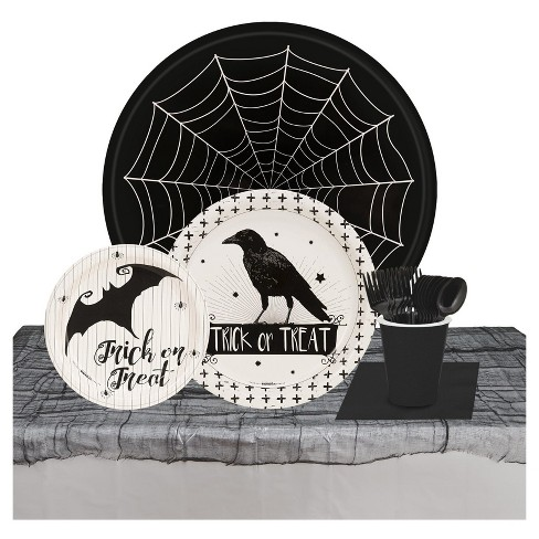 Halloween Trick or Treat Raven - 32 Guest Tableware Kit - image 1 of 1