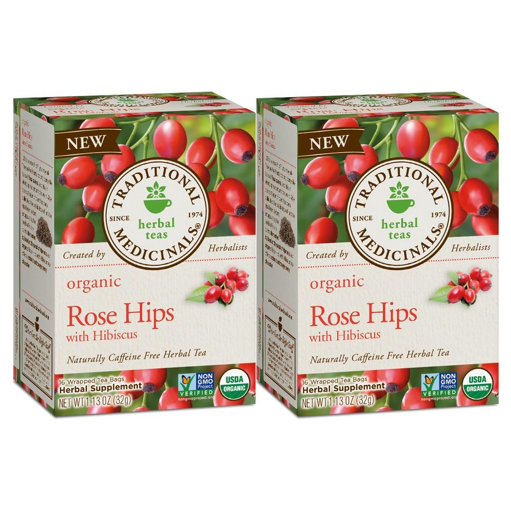 Traditional Medicinals Rose Hips with Hibiscus Organic Tea - 32ct