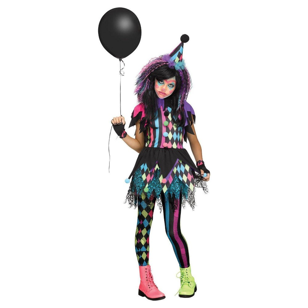 Girls Twisted Circus Costume L (12-14), Multicolored