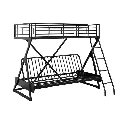 Conrad Futon Loft Bed Black - Powell Company - image 1 of 4