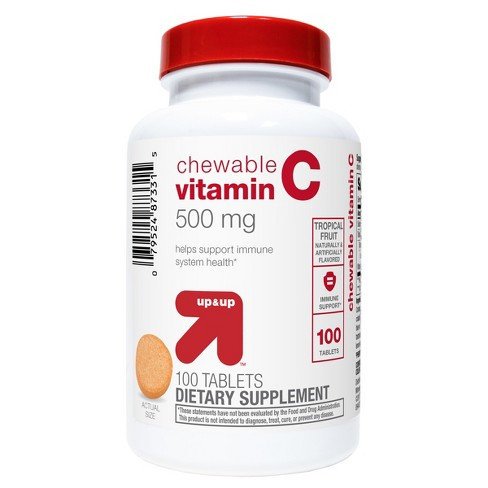Vitamin C Chewable Tablets - Tropical Fruit - 100ct - Up&Up™ - image 1 of 2