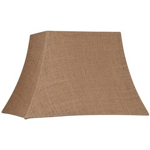 """Brentwood Natural Burlap Medium Rectangle Lamp Shade 10"""" Wide x 7"""" Deep at Top and 16"""" Wide x 12"""" Deep at Bottom and 11"""" Slant x 10.5"""" H (Spider) - image 1 of 4"""