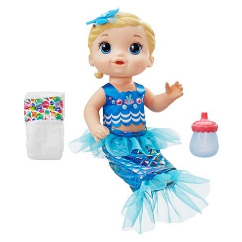 Baby Alive Shimmer 'n Splash Mermaid - Blue Fin - image 1 of 4