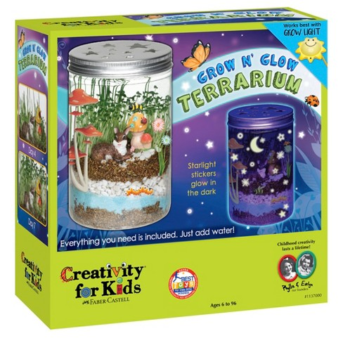 Creativity For Kids Grow N Glow Terrarium Target