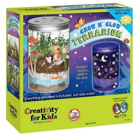 Creativity For Kids Grow N Glow Terrarium Target