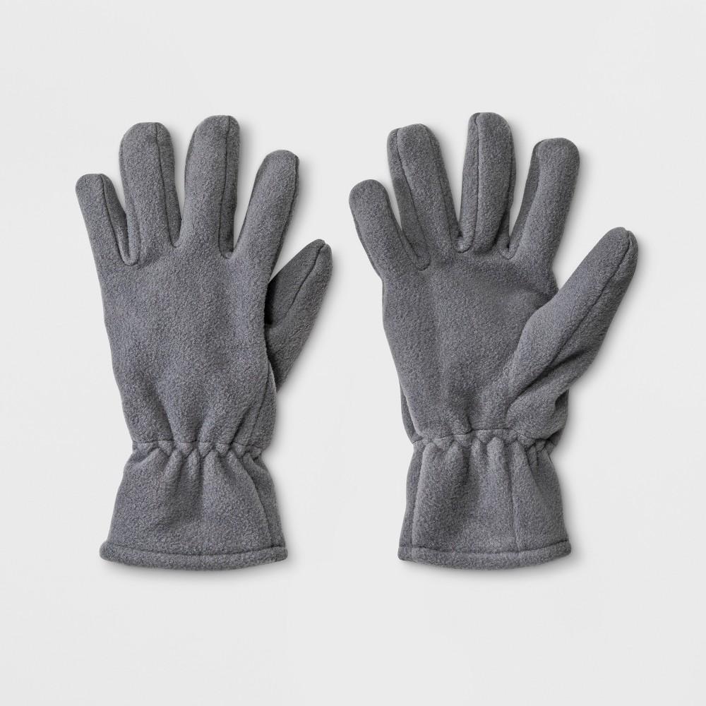 Boys' Fleece Gloves - Cat & Jack Gray 8-16