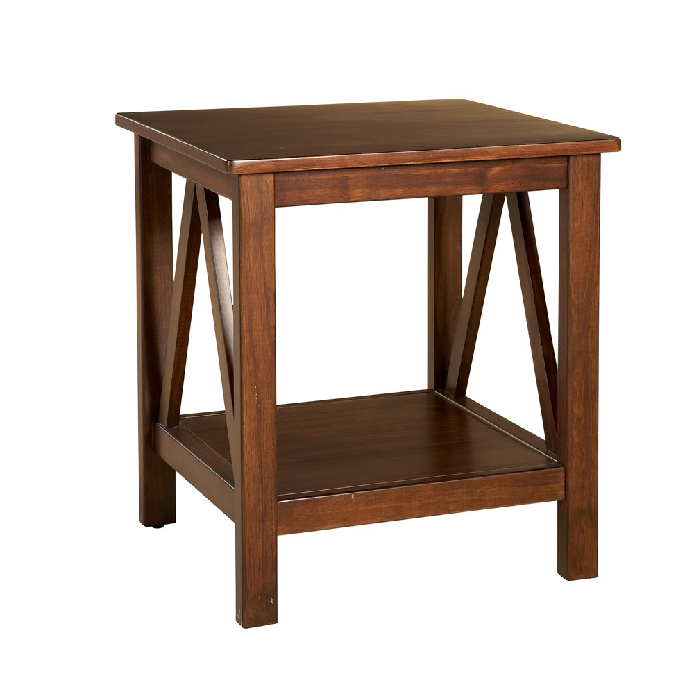 Titian End Table Brown - Linon