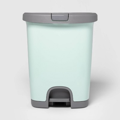 7gal Step Trash Can With Locking Lid Mint - Room Essentials™
