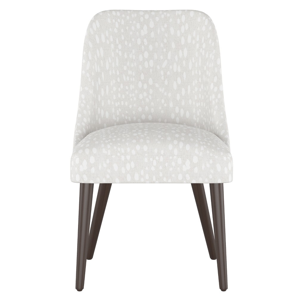 Geller Modern Dining Chair Ivory Leopard Print - Project 62