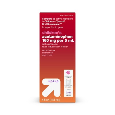 Children's Acetaminophen Pain Reliever & Fever Reducer Liquid - Bubblegum - 4 fl oz. - Up&Up™