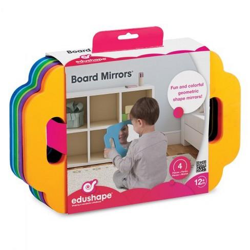 Edushape Infant and Toddler Easy Grasp Shape Mirrors - Set of 4 - image 1 of 4