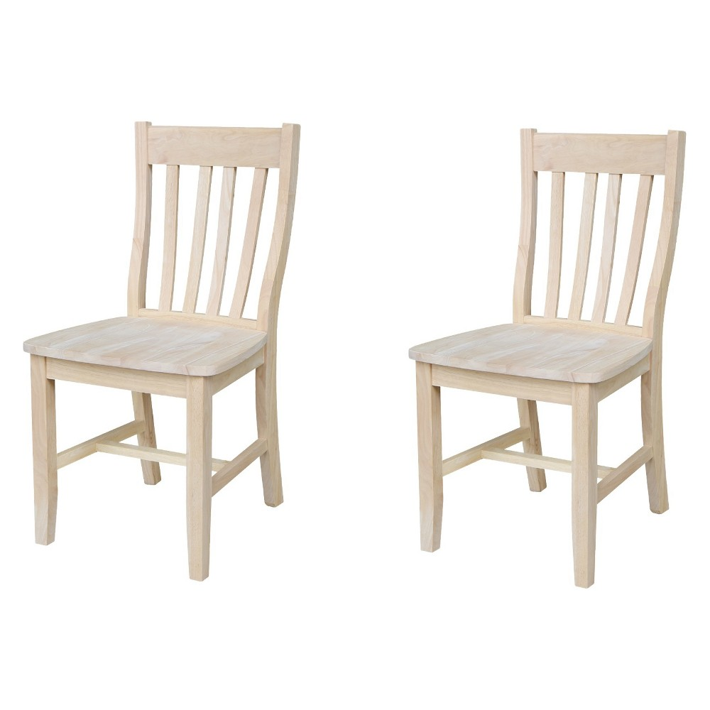 Set Of 2 Cafe Chair Unfinished - International Concepts