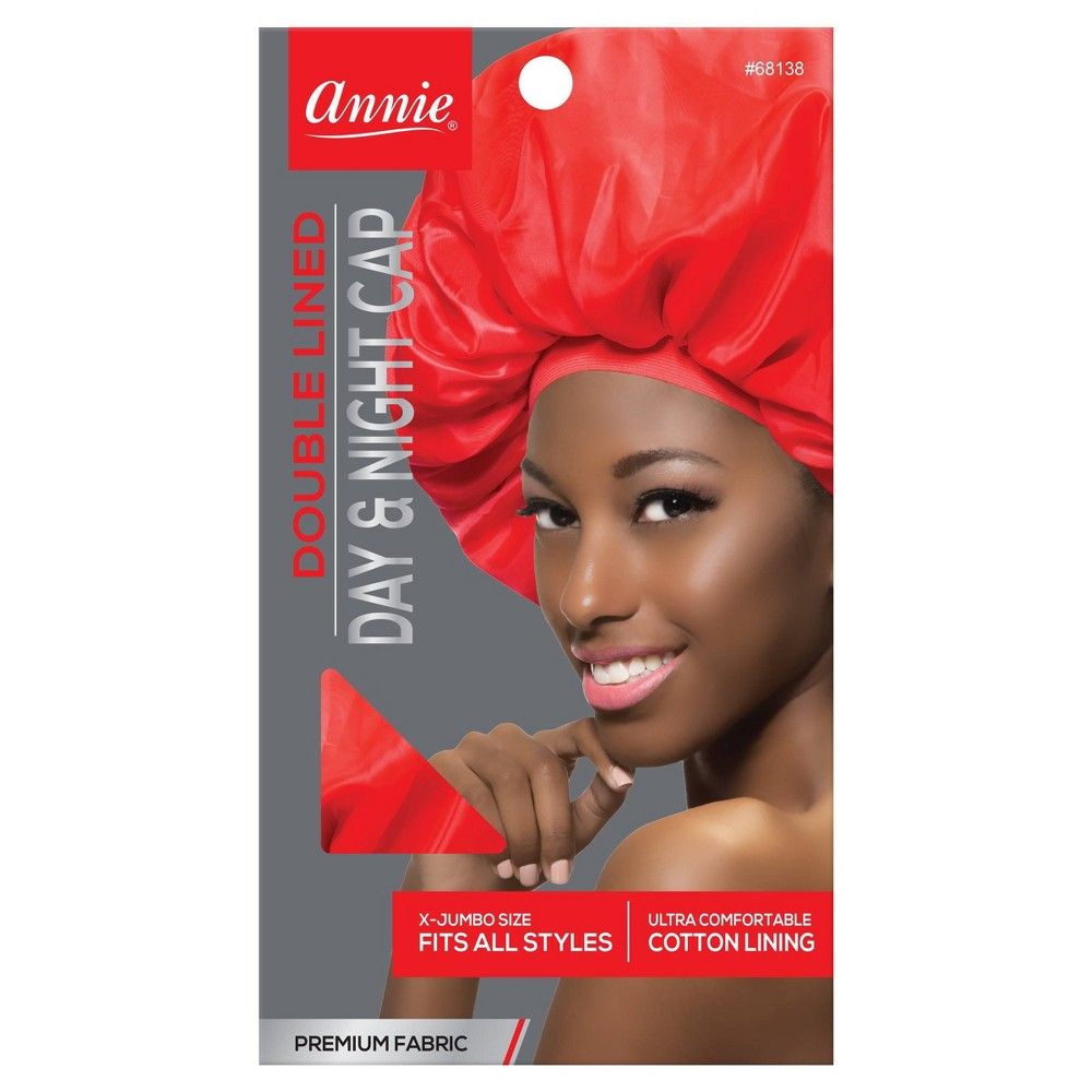 Image of Annie Deluxe Jumbo Day and Night Cap - Red