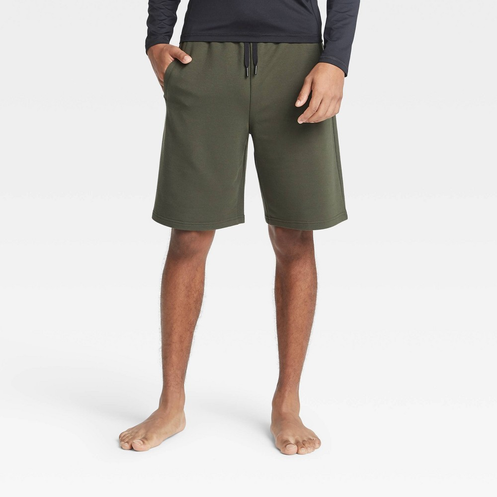 Men 39 S Soft Gym Shorts All In Motion 8482 Olive Green S