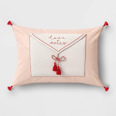 Lumbar Love Notes Valentine's Day Pillow Blush - Opalhouse™