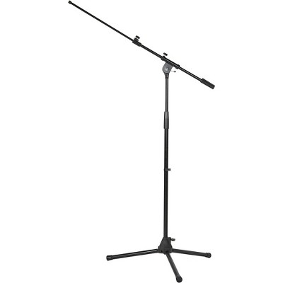 Musician's Gear Tripod Microphone Stand with Telescoping Boom Black