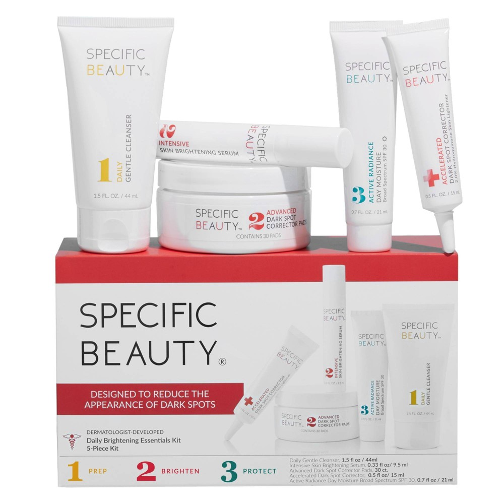 Image of Specific Beauty Daily Brightening Skincare Essentials Kit - 5ct