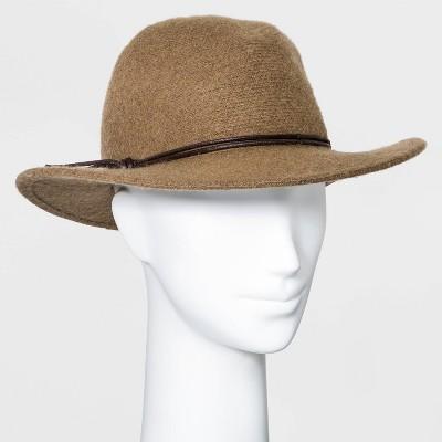 Women's Knit Fedora Hat - Universal Thread™ Taupe