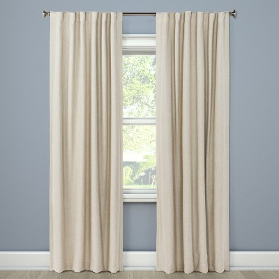 "84""x50"" Aruba Curtain Panels Blackout Brown Linen - Threshold™"