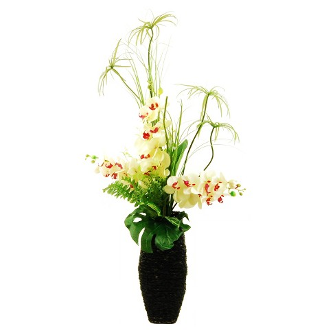 """Artificial Mixed Floral/Plant Arrangement White/Red 44"""" - LCG Florals - image 1 of 1"""