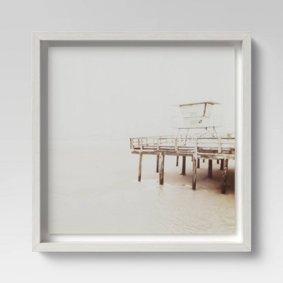 "16"" x 16"" Beach Tower Framed Print - Threshold™"