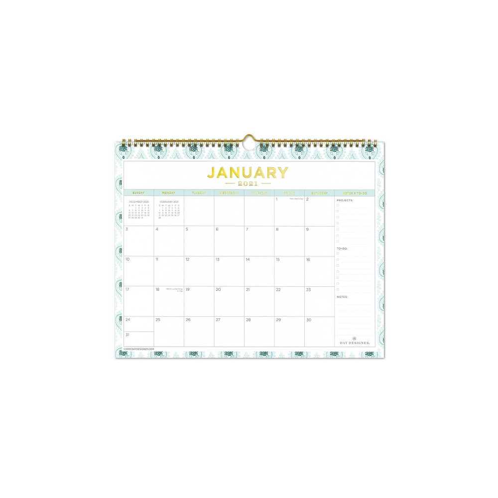 "Image of ""2020-2021 Academic Wall Calendar 12""""x12"""" Perfectly Print - Day Designer"""