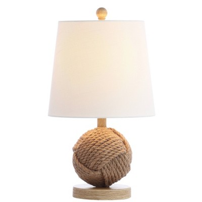 "18"" Rope Ball Table Lamp (Includes LED Light Bulb) Natural - Jonathan Y"